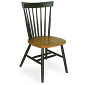 International Concepts Copenhagen Arrowback Wood Side Chair in Black and Cherry Finish