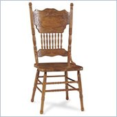 International Concepts Double Pressback Wood Side Chair in Medium Oak
