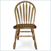 International Concepts Arrowback Wood Side Chair in Medium Oak Finish