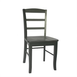 International Concepts Madrid Ladderback   Dining Chair in Black (Set of 2)