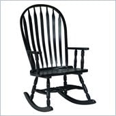 International Concepts Solid Wood Rocker in Black