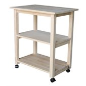 International Concepts Unfinished Microwave Kitchen Cart