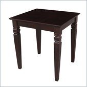 International Concepts End Table in Rich Mocha