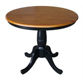 International Concepts 36 Round Dining Table in Black / Cherry
