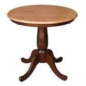 International Concepts 30 Round Dining Table in Cinnamon / Espresso