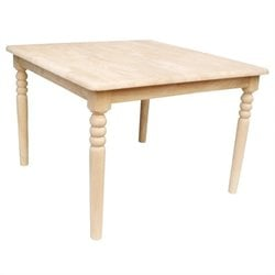 International Concepts Unfinished Kids Square Kids Table