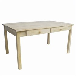 International Concepts Unfinished Kids Table With 4 Drawers