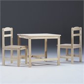 International Concepts Unfinished 3 Pieces Kids Table Set