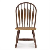 International Concepts Madison Park Windsor Side Chair in Cinnamon/Espresso