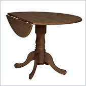 International Concepts 42 Round Drop Leaf Table in Cottage Oak