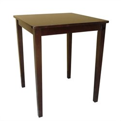 International Concepts Shaker Counter Height Dining Table in Rich Mocha