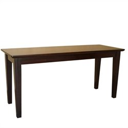 International Concepts Shaker Styled Bench in Rich Mocha
