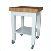 International Concepts Kitchen Island in White/Natural