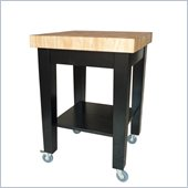 International Concepts Kitchen Island in Black/Natural