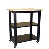 International Concepts Microwave Cart in Black/Natural