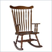 International Concepts Solid Wood Rocker in Cottage Oak
