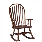 International Concepts Solid Wood Rounded Rocker in Cherry