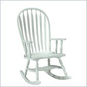 International Concepts Solid Wood Rounded Rocker in Linen White