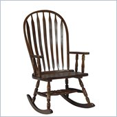 International Concepts Solid Wood Rounded Rocker in Cottage Oak