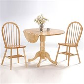 International Concepts 3 Piece 42 Round Dining Set in Natural