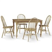 International Concepts 5 Piece Solid Wood Dining Set in Natural
