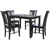 International Concepts 5 Piece Shaker Dining Set in Rich Mocha
