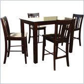 International Concepts 5 Piece Counter Height Pub Set in Rich Mocha