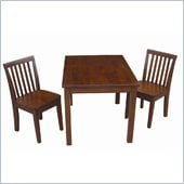 International Concepts 3 Piece Mission Table Set in Cottage Oak