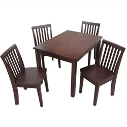International Concepts 5 Piece Mission Table Set in Rich Mocha