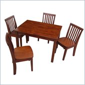 International Concepts 5 Piece Mission Table Set in Cottage Oak