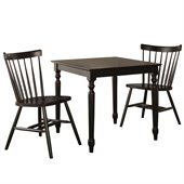 International Concepts 3 Piece Copenhagen Dining Set in Black