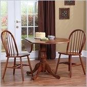 International Concepts 3 Piece Dual Drop Dining Set in Cottage Oak