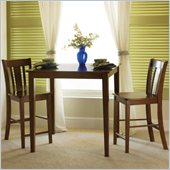 International Concepts 3 Piece San Remo Dining Set in Cottage Oak