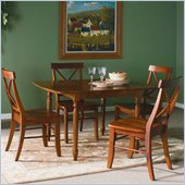 International Concepts 5 Pcs Butterfly Ext. Dining Set in Cottage Oak