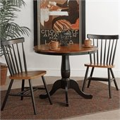 International Concepts 3 Piece Copenhagen Dining Set in Black Cherry