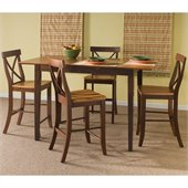 International Concepts 5 Piece Dining Set in Cinnamon/Espresso