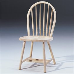 International Concepts Unfinished Windsor Spindle-Back Dining Chair