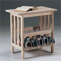 International Concepts Unfinished Mission Magazine End Table
