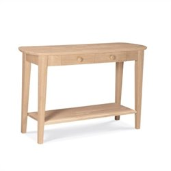 International Concepts Unfinished Phillips Oval Sofa Table