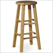 International Concepts 29 Round Top Bar Stool in Natural