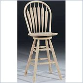 International Concepts 30 Steambent Unfinished Arrow Windsor Swivel Stool