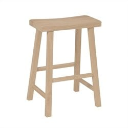 International Concepts 24 Unfinished Saddleseat Stool