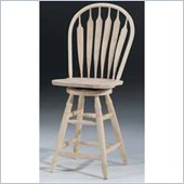 International Concepts 24 Steambent Unfinished Arrow Windsor Swivel Stool