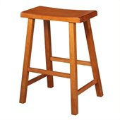 International Concepts 24 Saddleseat Counter Stool in Distressed Rustic Oak