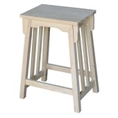 International Concepts Unfinished Mission 24 Bar Stool