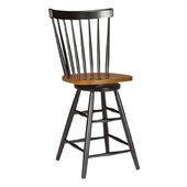 International Concepts Madison Park 24 Copenhagen Swivel Stool in Black/Cherry