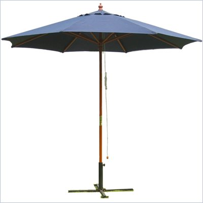 International Concepts 9' Octagonal Market Patio Umbrella in Navy Blue