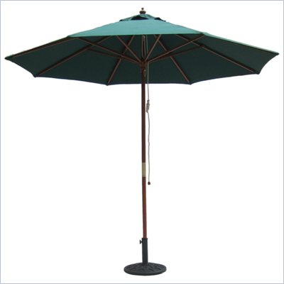 International Concepts 9' Octagonal Market Patio Umbrella in Hunter Green