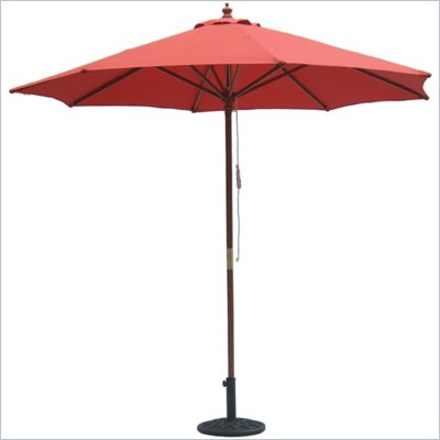 International Concepts 9' Octagonal Market Patio Umbrella in Autumn Red