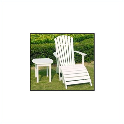 International Concepts Adirondack Chair in White Finish
